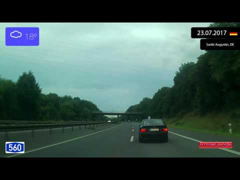 Driving from Troisdorf to Sankt Augustin (Germany) 23.07.2017 Timelapse x4
