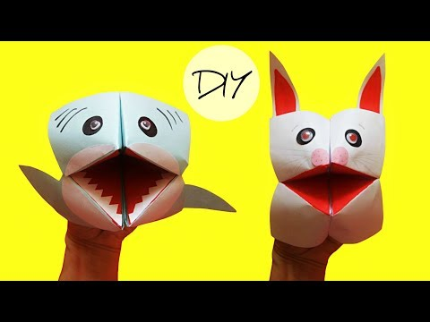 Hand puppets from paper | Toy animals DIY | Easy origami animals