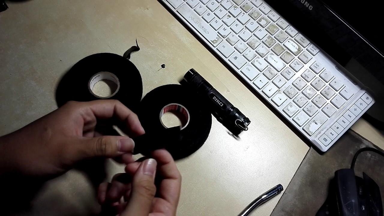 small resolution of banggood wiring loom harness cloth tape vs original tesa 51026