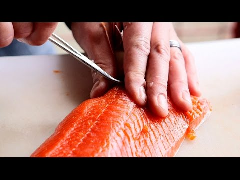 How to fillet an Alaska sockeye salmon