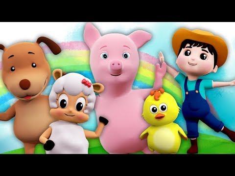 Cinco Pequenas Farmees   Pulando Canções Para Crianças   Five Little Farmees   Farmees Português