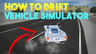 HOW TO DRIFT WITH SUPERCARS | Roblox Vehicle Simulator - EASY METHOD