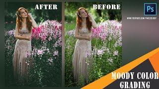 Photoshop Tutorial : Moody Color Tone Effects Tutorial - Matt Green