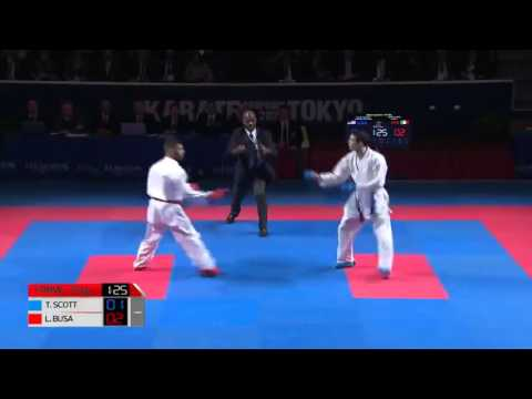 LUIGI BUSA VS thomas scott |  Finals Karate1 Premier League Open de Paris