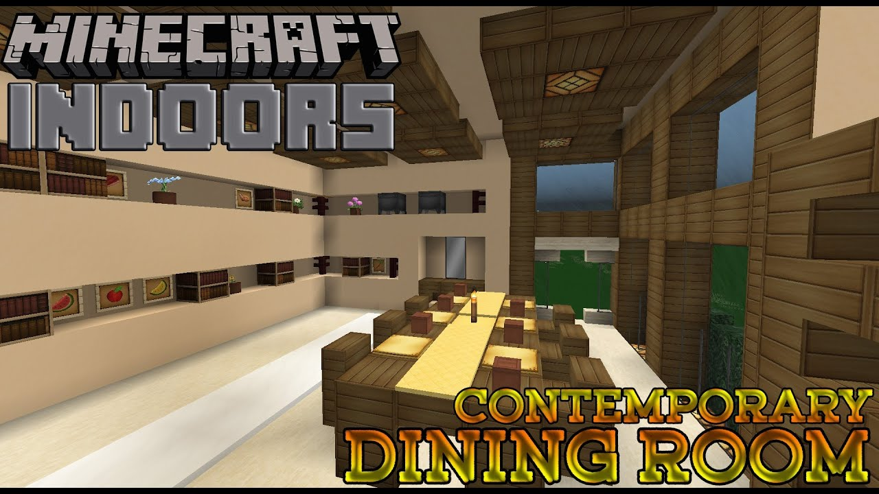 Contemporary Dining Room Minecraft Indoors Interior