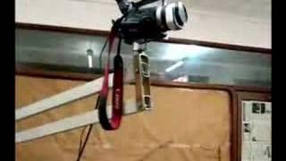 Probando la nueva grúa para la cámara. Camera crane.