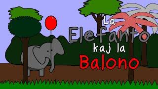 La elefanto kaj la balono