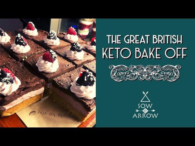 The Great British Keto Bake Off: Strawberry & Chocolate Vegan Cheesecake