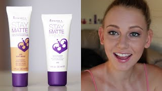 Rimmel Stay Matte Foundation + Primer First Impression! Thumbnail