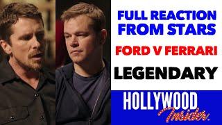 Legendary Reaction From Stars Ford V Ferrari Christian Bale Matt Damon Youtube