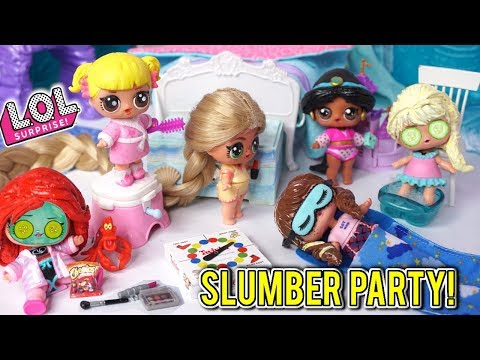 lol-disney-princess-slumber-party-with-baby-goldie---punk-boi-not-invited!