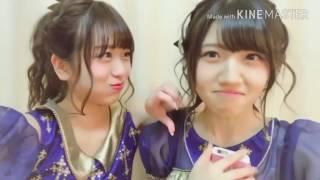AKB48の村山彩希と篠崎彩奈のありがとう皆にメッセージ.