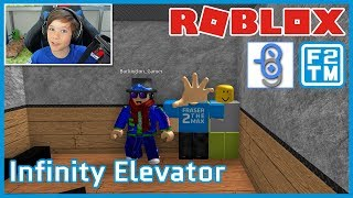 Burlington Gamer & Fraser2TheMax in Saving Mr. Noob!!! Roblox Infinity Elevator
