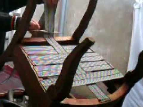 Restauraci n completa de una silla parte iii youtube - Como tapizar una descalzadora ...