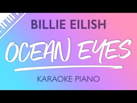 Ocean Eyes (Piano Karaoke Instrumental) Billie Eilish