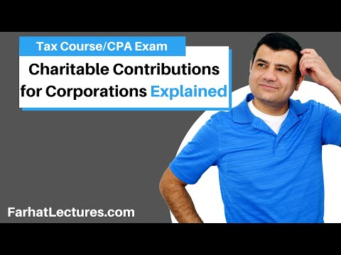 Charitable Contributions For Corporations | Corporate Income Tax | CPA REG | Ch 17 P 7