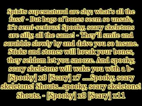 "Andrew Gold & The Living Tombstone - ""Spooky Scary Skeletons (Remix)"" lyrics"