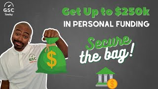 How to Get Approved for a Personal Loan | Get up to $250k with no collateral