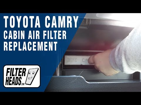 How to Replace Cabin Air Filter 2014 Toyota Camry - YouTube