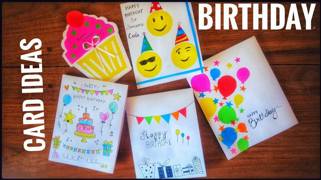 5 very easy handmade birthday cards  cute birthday
