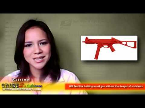 ASP Patended Solid Silicone Made Red Training Gun Lightweight Replica H&K UMP Review