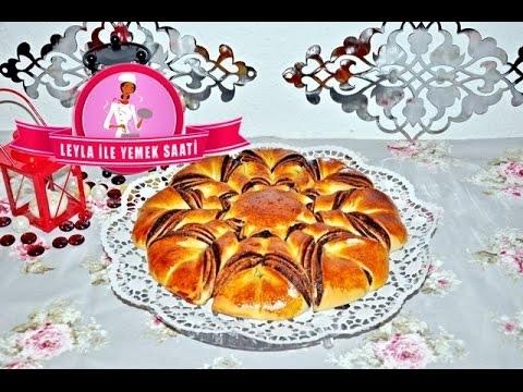 Çikolatalı Çiçekli Çörek Tarifi - Leyla ile Yemek Saati