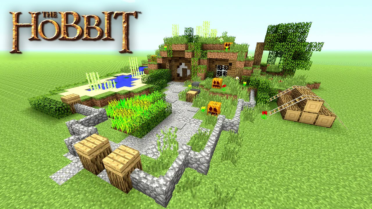Minecraft how to make a hobbit hole tutorial hobbit for How to start building a house