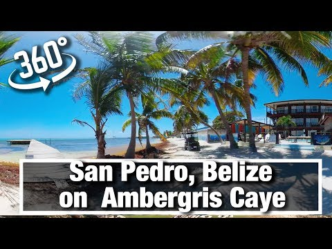City Walks: San Pedro Belize on Ambergris Caye on sunny morning