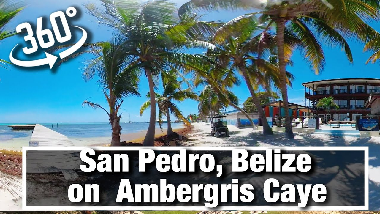 City Walks: San Pedro Belize on Ambergris Caye on sunny morning