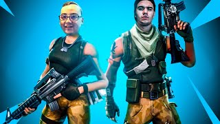 PLAYING WITH THE SKIN OF NOOB FORTNITE