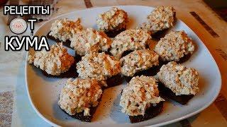 Закуска. Салат из сайры на гренках из бородинского хлеба. (Snack)
