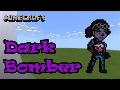 Minecraft: Pixel Art Tutorial and Showcase: Dark Bomber (Fortnite Battle Royale) thumbnail