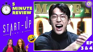 START UP Ep 3 & 4 | Laugh Out LOUD Funny 🤣 | 5 Minute KDrama Review
