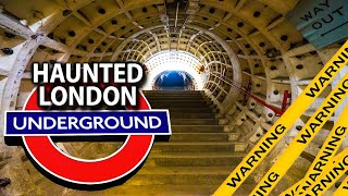MUST WATCH BEFORE ITS DELETED - HAUNTED LONDON UNDERGROUND SECRETS ( WE WEREN'T MEANT TO SEE THIS )