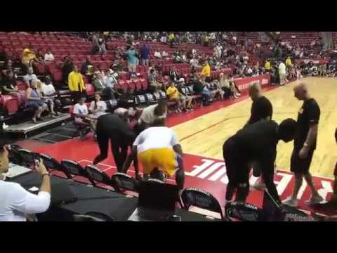 LeBron James Representing Lakers at the NBA Summer League