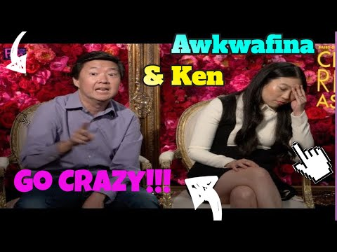 Awkwafina & Ken Jeong Goes  CRAZY rapping!!!  'Crazy Rich Asians'