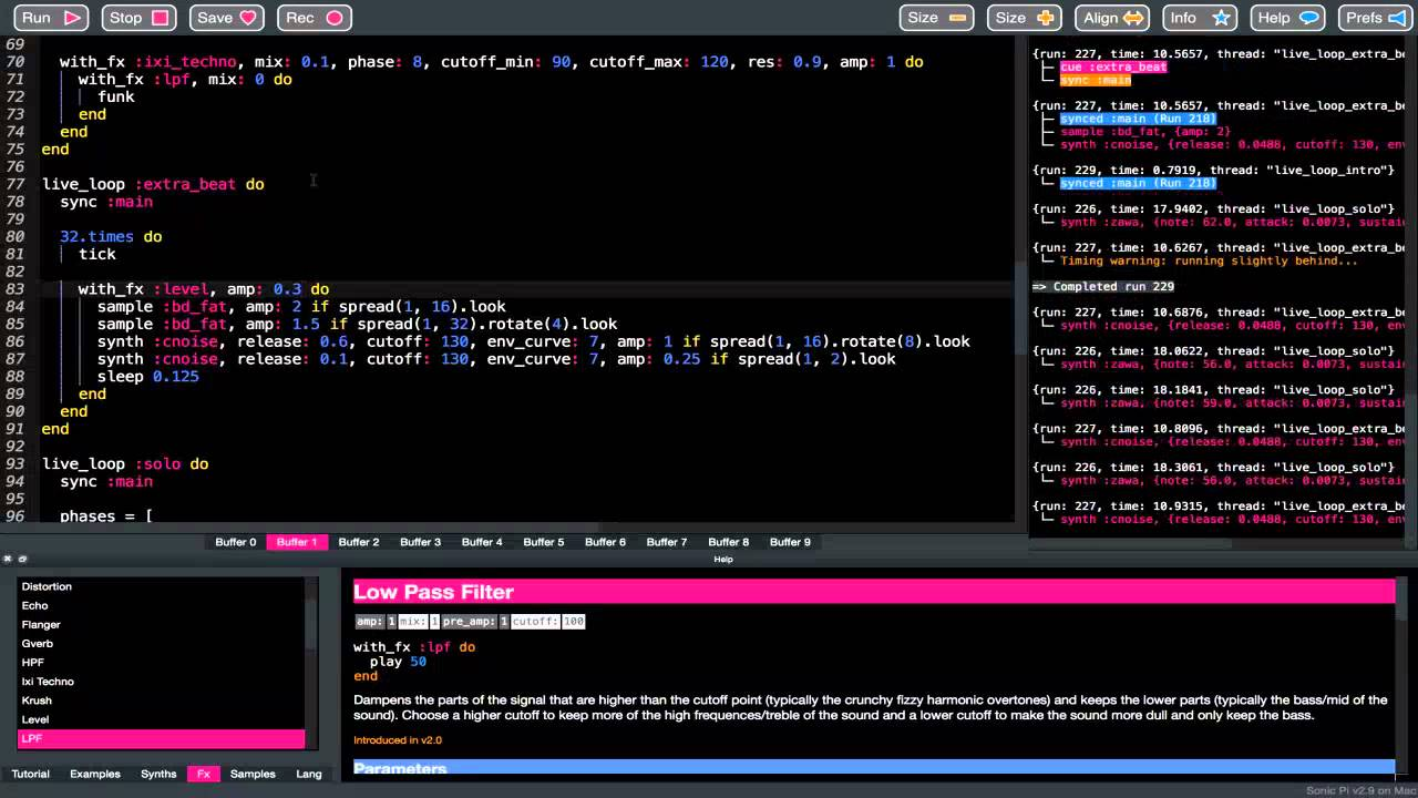 Sonic Pi - The Live Coding Music Synth for Everyone