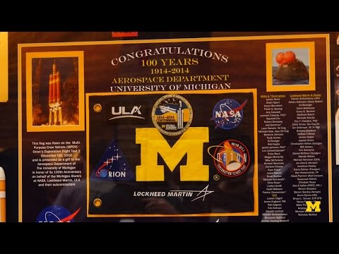 Unveiling Ceremony of the Michigan Flag Flown on Orion EFT-1
