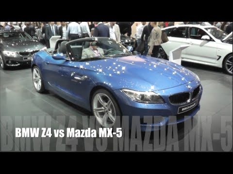 bmw z4 2016 vs mazda mx 5 2016 youtube. Black Bedroom Furniture Sets. Home Design Ideas