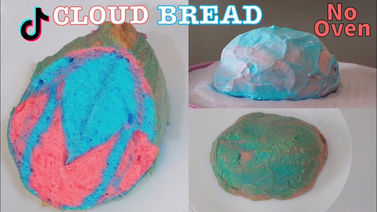 Cloud Bread Without Oven Cloud Bread Recipe How To Make Tiktok Cloud Bread Youtube