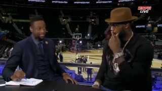 LeBron James Interview Dwyane Wade | Warriors vs Cavaliers | 2015 NBA Finals