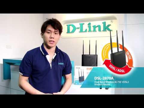 D-Link DSL-2870A Dual Band Wireless AC750 VDSL2 Modem Router (Thai)