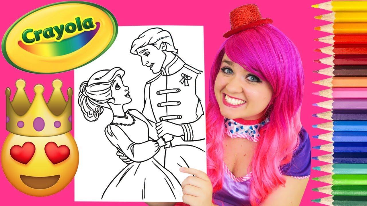 Coloring A Prince & Princess Coloring Book Page Prismacolor Colored ...