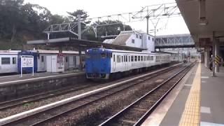 JR九州 香椎線 キハ47形 2両編成 香椎駅 発車 シーン 2018年10月7日