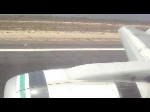 Alaska 250 Landing at Los Cabos Intl. & Awesome Flight Attendant