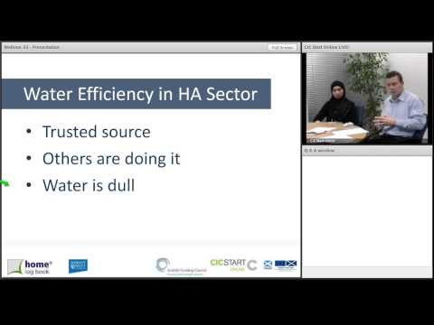 Communication Strategies to Minimise Water Consumption [CIC Start Online 33]