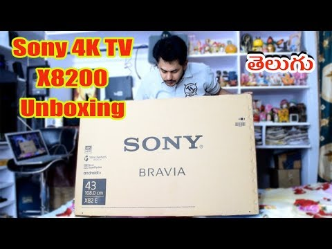 Sony BRAVIA X8200E Series Android 4K TV Unboxing || in Telugu || Tech-Logic