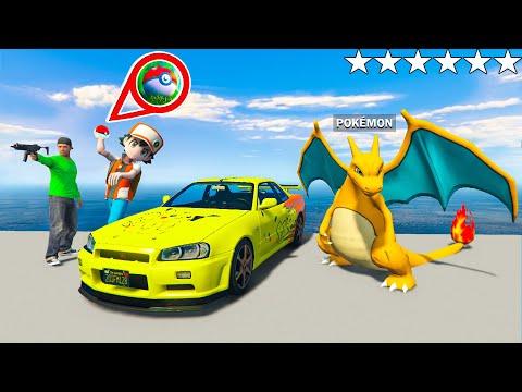 ich fange GLURAK und KLAUE sein AUTO in GTA 5 RP mit POKEBALL!