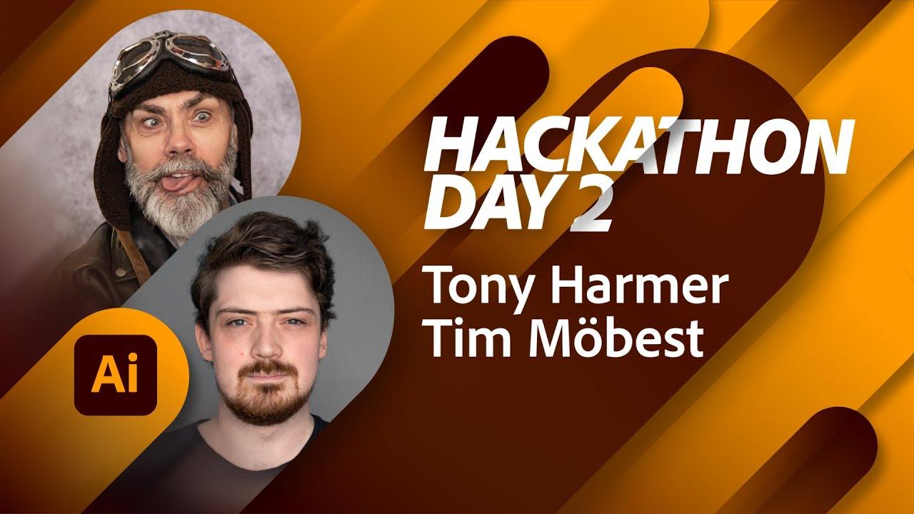 The Tony Harmer Hackathon Day 2: Illustrator Magic   Adobe Live