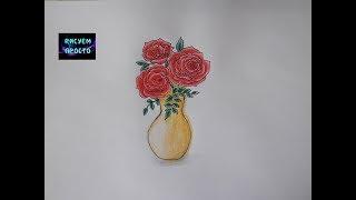 как научиться рисовать красиво вазу с цветами